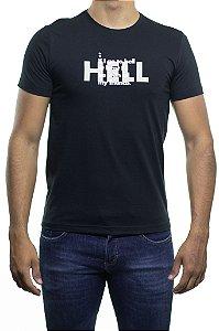 Camiseta Malha Sergio K Hell With Friends Preta