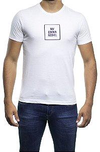 Camiseta Malha Sergio K Etiqueta May Contain Branca