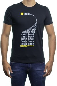 Camiseta Malha Sergio K Life Cash Back Preta