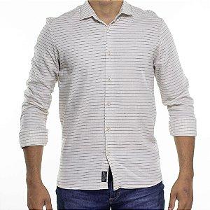 Camisa Social Urbô Listrado Pure Bege