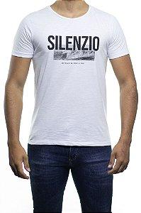 Camiseta Malha Sergio K Silenzio Branca