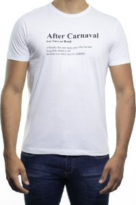 Camiseta Malha Sergio K After Carnaval Branca