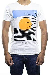 Camiseta Malha King e Joe Linhas Sun Off White