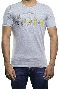 Camiseta Malha King e Joe Do The Revolution Beer Mescla Cinza
