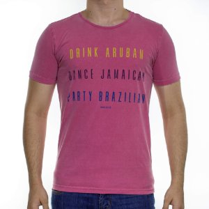 Camiseta Malha King e Joe Stonada Drink Dance Party Rosa