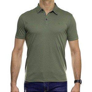 Camisa Polo VR Algodão Pima Verde Oliva Basica