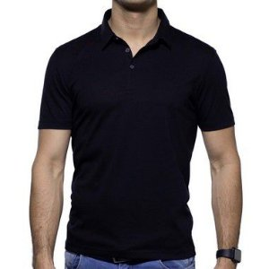 Camisa Polo VR Algodão Pima Preta Basica