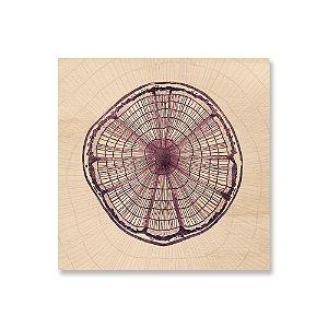 Quadro de Madeira - Wood Circle
