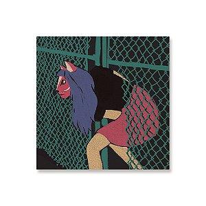 Quadro de Madeira - Cat Girl