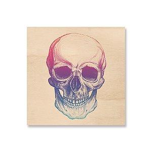 Quadro de Madeira - Skull Colors