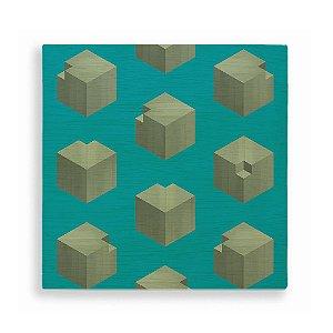 Quadro de Madeira - Geometric Repetition