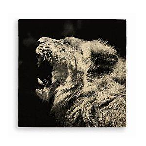 Quadro de Madeira - Lion