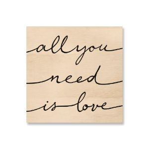 Quadro de Madeira - All you need is love