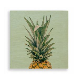 Quadro de Madeira - Pineapple Tropical Green