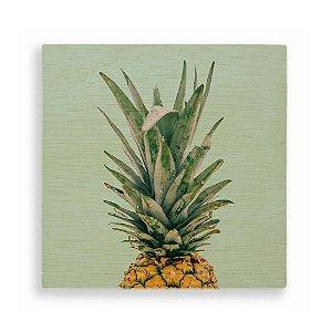 Quadro de Madeira - Pineapple Tropical Green