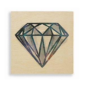 Quadro de Madeira - Space Diamond - Blue
