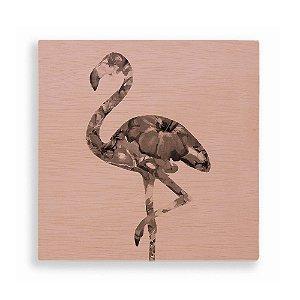 Quadro de Madeira - Flamingo Pink