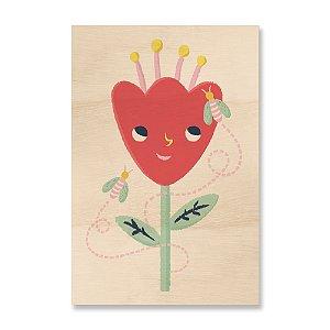 Quadro de Madeira Infantil - A Flor