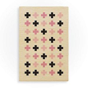 Quadro de Madeira - Plus Pattern Pink