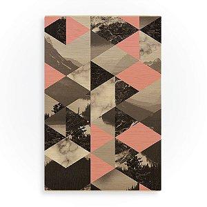 Quadro de Madeira - Landscape Pattern - Pink