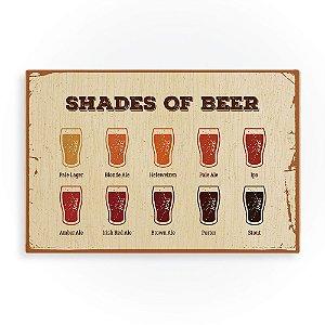 Quadro de Madeira - Shades of Beer