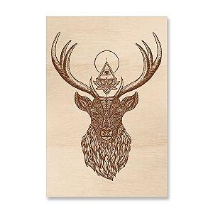 Print - Deer Mandala Brown