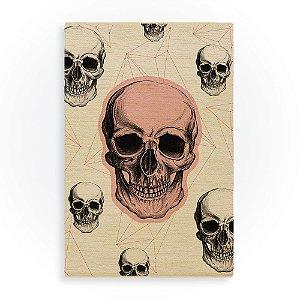 Quadro de Madeira - Skull Composition