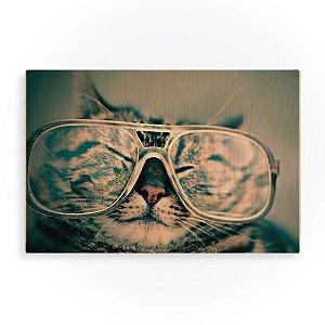 Quadro de Madeira - Cool Cat