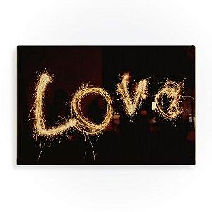 Quadro de Madeira - Love Light