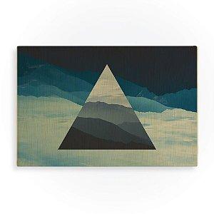 Quadro de Madeira - Landscape Triangle