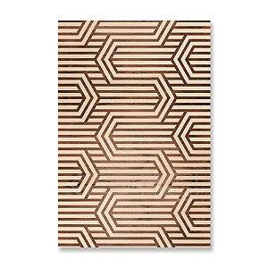 Quadro de Madeira - Geometric Pattern Buttercup Madeira