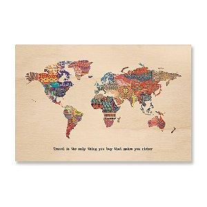 Print - Fabric World Map