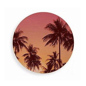 Quadro de Madeira - Palm Trees - Pink