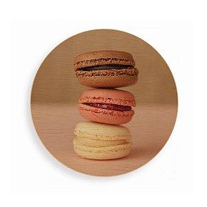 Quadro de Madeira - Macarons