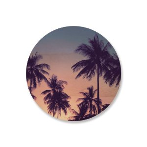 Print - Palm Trees - Blue