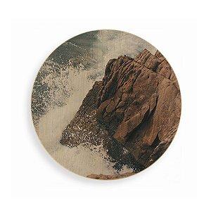 Quadro de Madeira - Wave Rocks