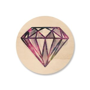Print - Space Diamond - Pink