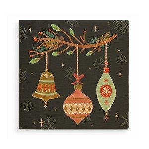 Quadro de Madeira - Luzes de Natal