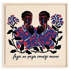 Quadro de Madeira - Fazer as Pazes