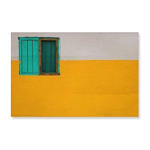 Quadro de Madeira - Parede Amarela