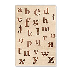 Print - Alfabeto Desconstruído