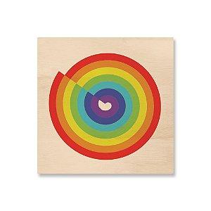 Print - Arco íris Circular Colorido