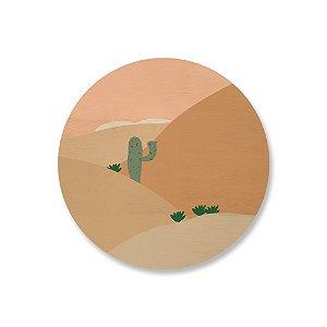 Quadro de Madeira - Deserto Caatinga 2