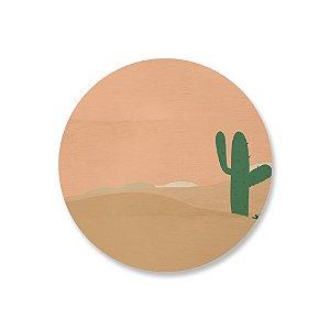 Quadro de Madeira - Deserto Caatinga 3