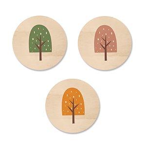 Kit MooMoo - Árvore Sorvete Mostarda Verde Rosa