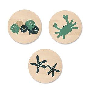Kit MooMoo - Redondo Conchas Estrela e Crab