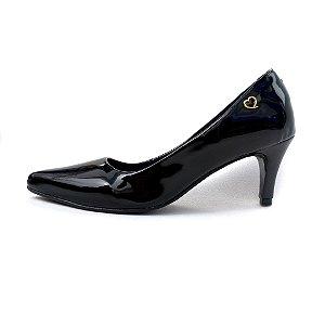 Scarpin Amo Calçados Preto Verniz
