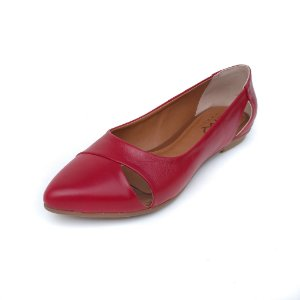 Sapatilha em Couro Amo Calçados Lynda Vermelha
