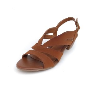 Sandália de Salto em Nobuck Mylla Caramelo