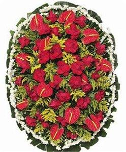 Q - Coroa de Flores Paixão Eterna